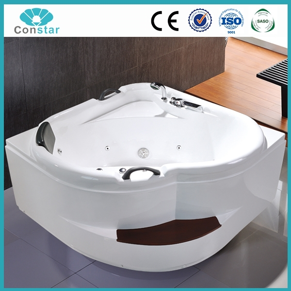 corner free standing acrylic hot tubs with size