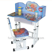 Adjustable baby furniture kids study desk and chair