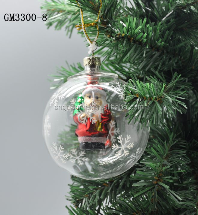 Santa claus hotsell sell promotion clear glass craft for Santa glasses for crafts