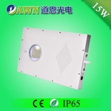15W high efficiency smart integrated all in one solar led street light road beads water wall outdoor