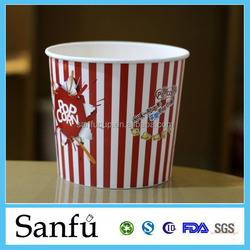 Custom log printed clay coated paper for Popcorn bucket