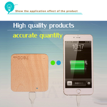 Full decoded hot sales rechargeable Wood power bank PB-W7800