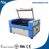 laser cutting and engraving machine with front and back material feeding (no limit of the length)