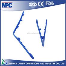 Plastic Forceps 12.7cm Standard Size Blue Forceps OEM Available