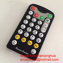 China Black Mini 28 Keys IR Remote control with RC2025 Button Battery NECCode 807F ZF also supply IR remote with RC5 Code