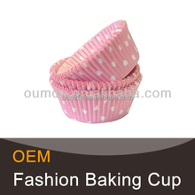 Pink decor disposable baking cups wholesale