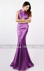 2015 fashion woman sleeveless floor length fron slit sexy chiffon evening dresses online shopping