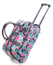 printing Trolley travel bag with durable wheels