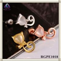 European And China Trade Tin Alloy Earring Diamond Jewelry Display Stand