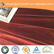 100% Polyester Factory Wine Red Colour Super Soft Fabric For Suit Set