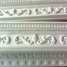 White color gypsum plaster cornice