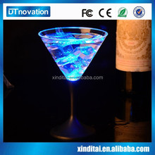 Low price colourful changing led light personalized drinking glasses