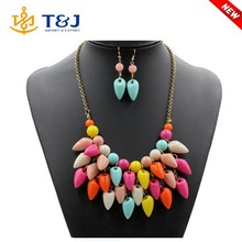 2015 best selling style fashion necklace woman costume statement african jewelry sets