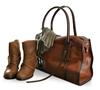 oversized leather travel bags 2015/ women vintage leather shoulder bag / stylish travel tote bag