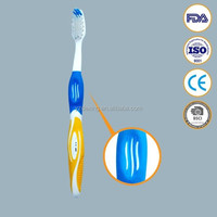 End rounded bristle soft and hard rubber combined toothbrush