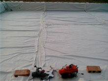PP, PET, polyester spunbonded and needle punched nonwoven geotextile fabric