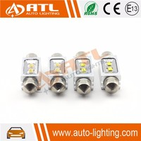 Hot Sale 10W 9-30V 2 smd XBD chip car festoon led bulb