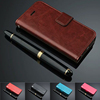 Business Phone Case Genuine Soft Leather Wallet Bank Card Holder Flip Stand Bumper Case Phone Housing For iPhone 5