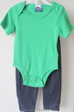 infant clothing baby green romper and black pant baby clothes set