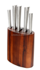 Good Quality Stainless Steel kitchen knife with Acacia wooden holder