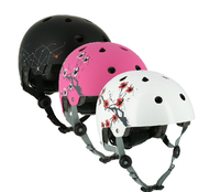 Chinese style latest helmets with flower logo