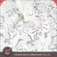 Top quantity new product leaves pattern bulk white dress making indian embroidery fancy laces fabric