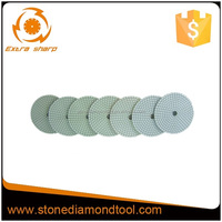 3 Inch 80mm Diamond White Grid Resin Wet Dry Polishing Pads