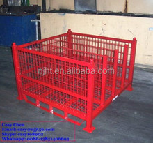 Heavy Duty Metal storage pallet cage container for sale