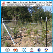 Cheap hinge joint high tensile red top grassland field fence
