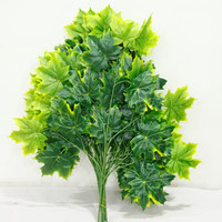 factory cheap artificial maple leaves wholesle artificial leaves for sale