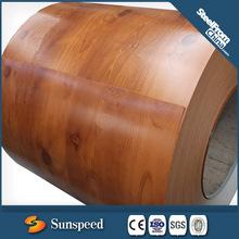 PPGI de grano de madera para el techo
