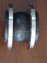 oil resistant single bellow rubber expansion joints with flange