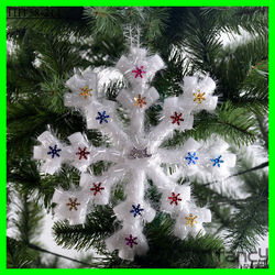 christmas decorations11.42'' long artificial foam snowflakes
