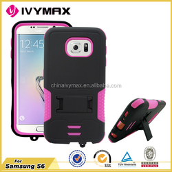 New arrival mobile phone accessory for Samsung S6 armor combo case
