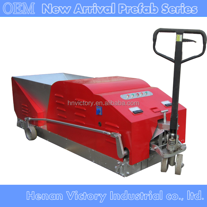 Concrete Extrusion Machine : Lightweight concrete wall panel extruder machine with