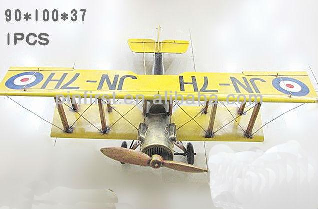 rare vintage antiguo mecánico fino arte de hierro modelo de avión