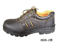 Hot-selling Workman PU leather Oil and slip resistant men's steel toe cap safety shoes in dubai