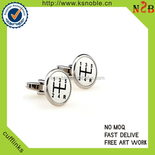 Economic classical cheap brass musical cufflink