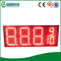 Hidly outdoor high brightness 16inch red 8.889 format 7 segment led display 4 digit