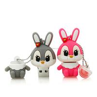 HOT usb flash drive 64g pendrive 32g flash drive16g 8g 4g new Cute funny bunny Model pendrive Usb2.0 memory stick free shipping