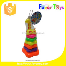 Plastic toy Rainbow Rock and Roll Ring Stacking toys
