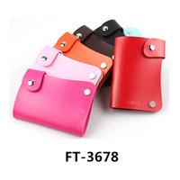 Genuine Leather Swivel Credit Business Card Holder, Wallet-Sized Photo Holder, Organizer