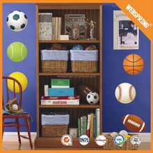Customized delightful removable basketball star wall sticker