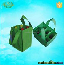 promition non woven 6 bottle wine tote bag