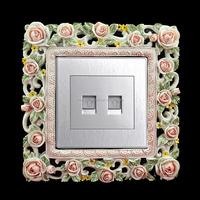 Flowery Resin Single Light Switch Surround Socket Finger Plate Panel Cover KGT0015