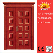 Top selling beautiful designs solid teak wood door SC-W064