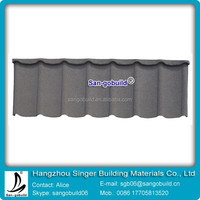 Gray color stone coated metal roof tile with cheaper price