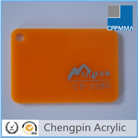 Hot selling orange color cast ultra-thin acrylic sheet
