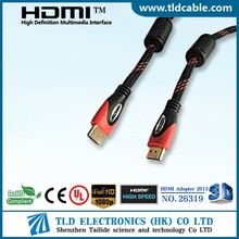 Bulksale gold plated hdmi 1.4 cable with ethernet support 3D 1080P