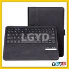 Novo teclado Bluetooth destacável Caso de couro com com Sleep / Wake-up Função e Suporte para iPad Air
